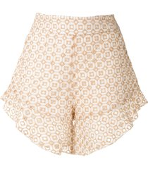 olympiah orchid patterned shorts - neutrals