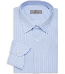 canali men's modern-fit striped dress shirt - blue - size 16 41
