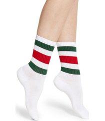 women's gucci little william stripe crew socks