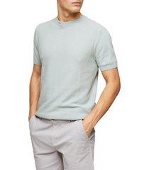 men's topman sweater knit t-shirt, size small - green