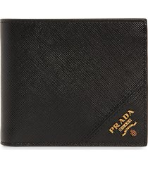 men's prada saffiano leather billfold wallet - black