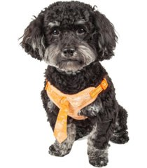 pet life 'bonatied' reversible and adjustable dog harness with neck tie