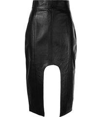 boyarovskaya cutout pencil skirt - black
