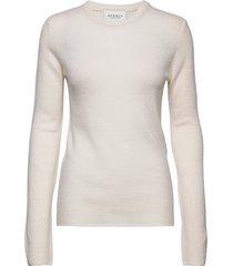 pure cashmere o-neck pullover stickad tröja vit sparkz copenhagen