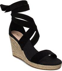 laretta sandalette med klack espadrilles svart aldo