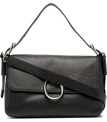 orciani soho diamond shoulder bag - black