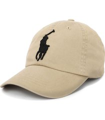 gorra coastal beige polo ralph lauren unicolor big pony