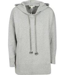 michael kors chain drawstring hoodie