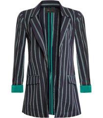 bcbgmaxazria striped open-front blazer