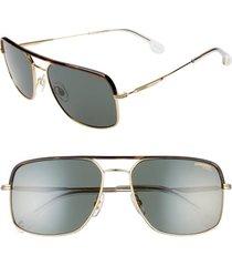 men's carrera eyewear 60mm gradient aviator sunglasses - gold green