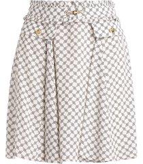 viscose elisabetta franchi skirt with buckle print