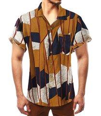 camisa bohemia multicolor summer beach holiday hombre