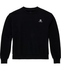 converse sudadera embroidered star chevron black