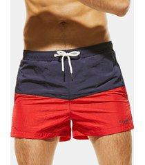 pantaloncini da spiaggia da uomo ad asciugatura rapida colore sportivo da spiaggia ad asciugatura rapida con tasca posteriore