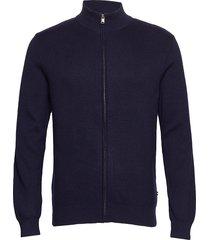 knit pattern zip cardigan gebreide trui cardigan blauw lindbergh