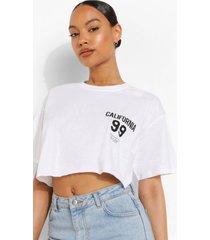 kort california t-shirt, white