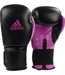 luvas de boxe adidas power 100 smu colors - 14 oz - adulto - preto/rosa esc