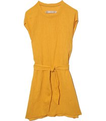 vija dress in golden yellow