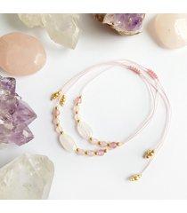 kamień księżycowy i kwarc różowy bransoletka