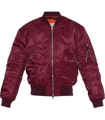 bomber jacket burgondy