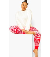 plus gebreide legging, red