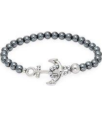 hemitite anchor toggle bracelet