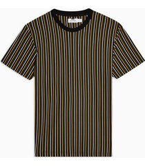 mens multi yellow pique stripe t-shirt