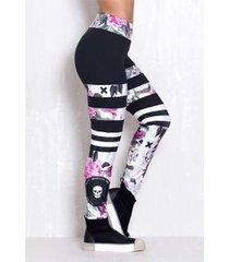 legging elastic dark spring feminina