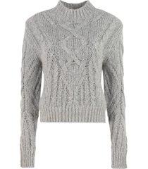 iro quincy long sleeve crew-neck sweater