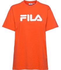 unisex classic pure ss tee t-shirts short-sleeved orange fila