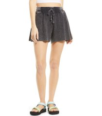 women's splendid mineral wash shorts, size small - black