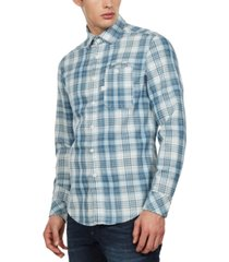 g-star raw men's slim-fit bristum check shirt
