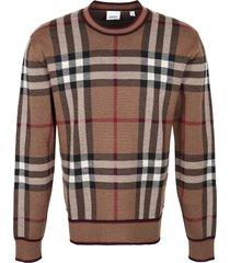 burberry merino wool crew-neck sweater
