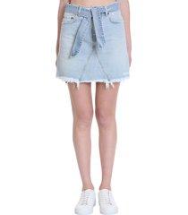 givenchy skirt in cyan denim