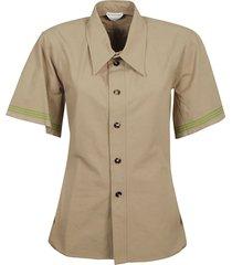 bottega veneta heavy striped selvedge shirt