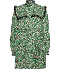 luna kort klänning grön custommade