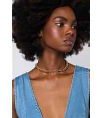 akira acrylic m initial necklace