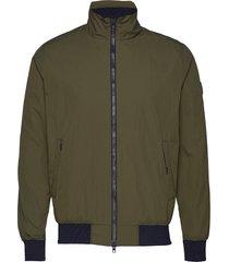 nylon jacket - grs bomberjack jack groen knowledge cotton apparel
