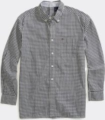 tommy hilfiger men's adaptive seated fit check shirt sky captain - s
