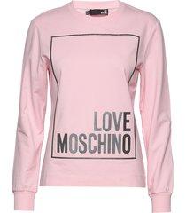 love moschino sweatshirt sweat-shirt tröja rosa love moschino