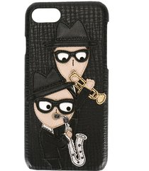 dolce & gabbana designer's patch iphone 7 case - black