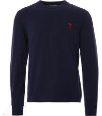 ami ami de coeur t-shirt ls | navy | hj005.701-nvy
