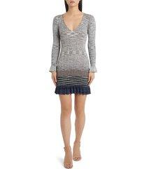 women's missoni degrade long sleeve sweater dress