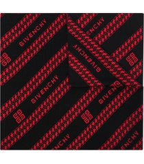 givenchy reversible logo chain print scarf - red