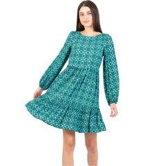 short dress with patterned flounces