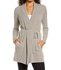 women's barefoot dreams cozychic ultra lite(tm) cardigan, size small - beige
