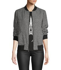 textured baseball-collar jacket
