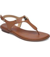 mk plate thong shoes summer shoes flat sandals beige michael kors