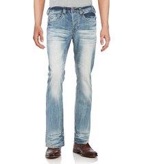 buffalo david bitton men's king-x bootcut jeans - indigo - size 28 30