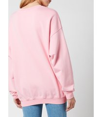 see by chloé women's sbc sunset on cotton fleece sweatshirts - quartz pink - m